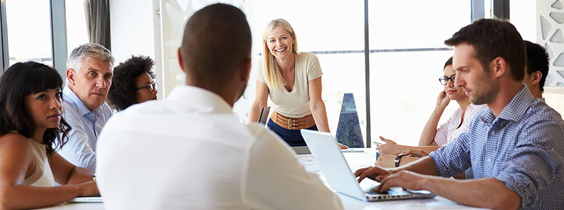 A company meeting